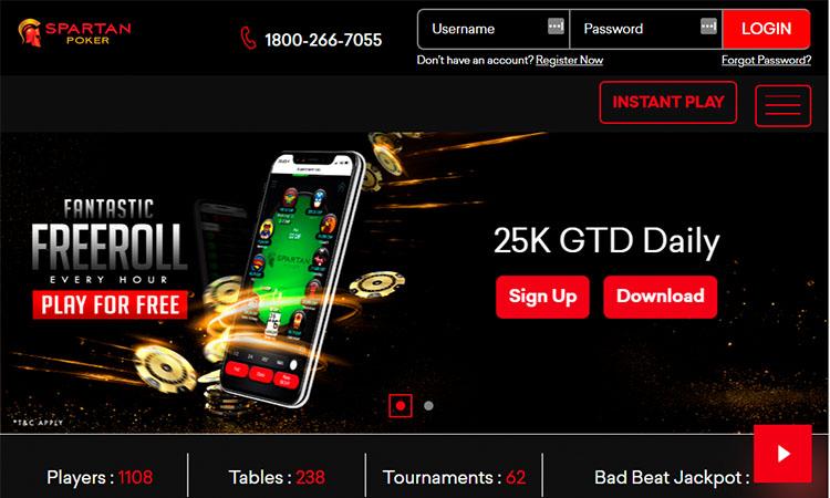 Сайт покер-рума Spartan Poker